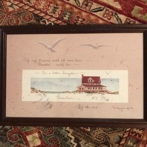 Other - D.Morgan By the Sea Print. Framed for hanging.